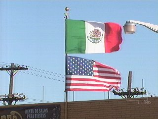 Image result for mexican flag above us flag